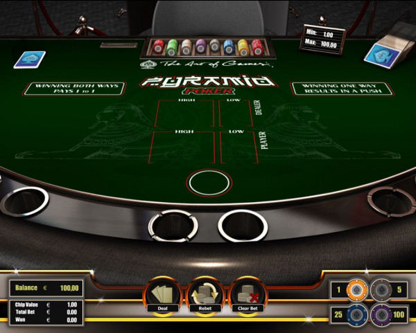 Pyramid Poker Screenshot