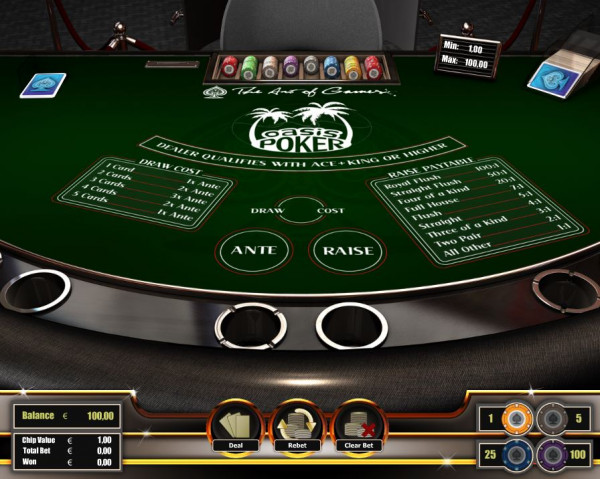 Oasis Poker Screenshot