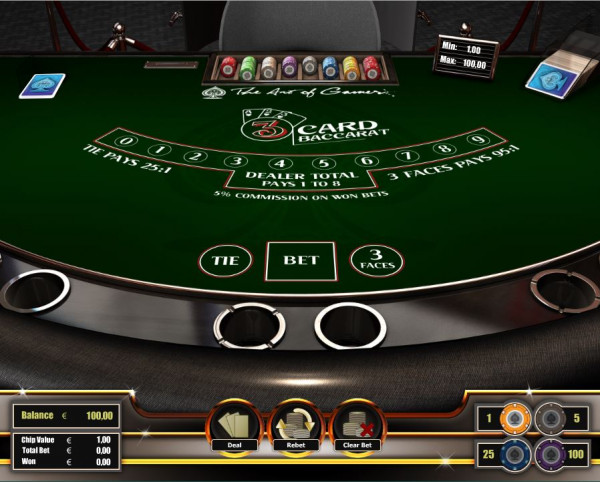 3 Card Baccarat Screenshot