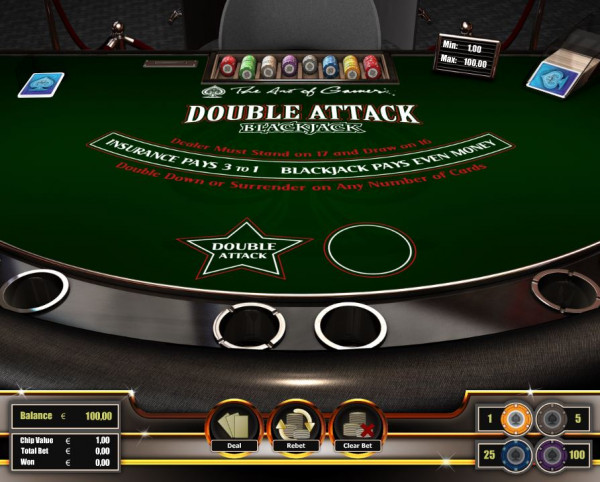 Double Attack Blackjack Screenshot