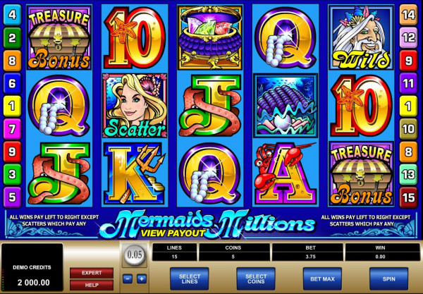 Mermaids Millions Screenshot