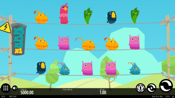 Birds on a Wire Screenshot