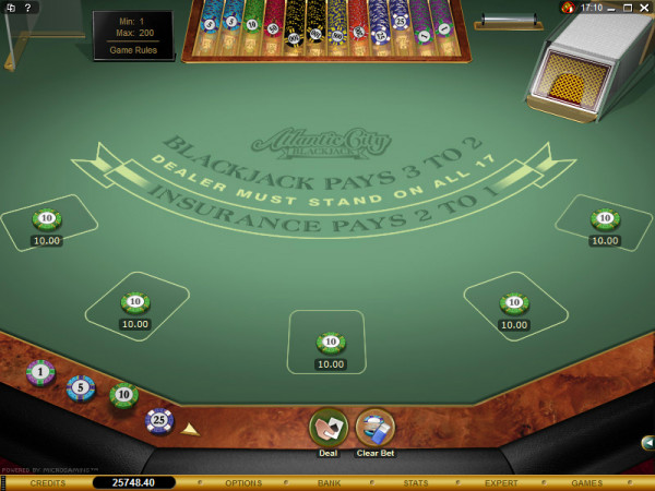 Atlantic City Blackjack Gold Screenshot