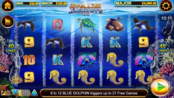 Stellar Jackpots with Dolphin Gold Screenshot